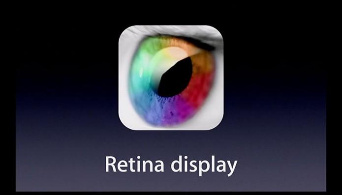 Tela Retina tenta superar a capacidade do olho humano em enxergar pixels no display (Foto: Reprodução/Apple)