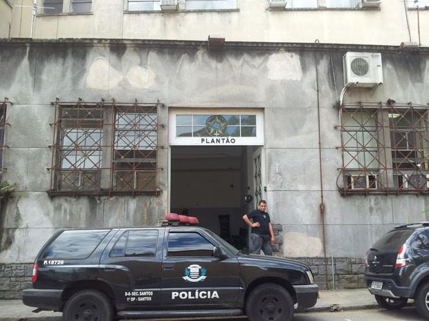 Boletim de ocorrência foi registrado na Central de Polícia Judiciária de Santos (Foto: Lizie Rodrigues/G1)