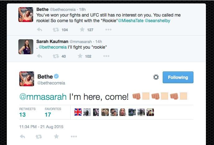 """BLOG: Sarah Kaufman """"morde isca"""" em provocação a Tate, e Bethe aceita luta"""