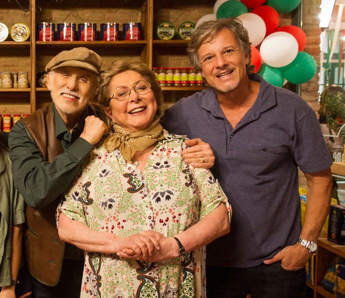 Vittorio é filho de Gaetano e Geppina (Foto: Maurício Fidalgo / TV Globo)