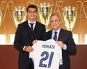 """Real Madrid apresenta Álvaro Morata, que comemora a """"volta para casa"""""""