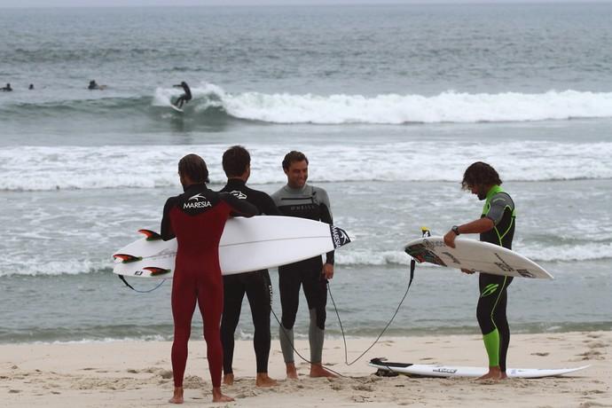Surfistas no QS Prime de Saquarema (Foto: Daniel Smorigo / WSL)