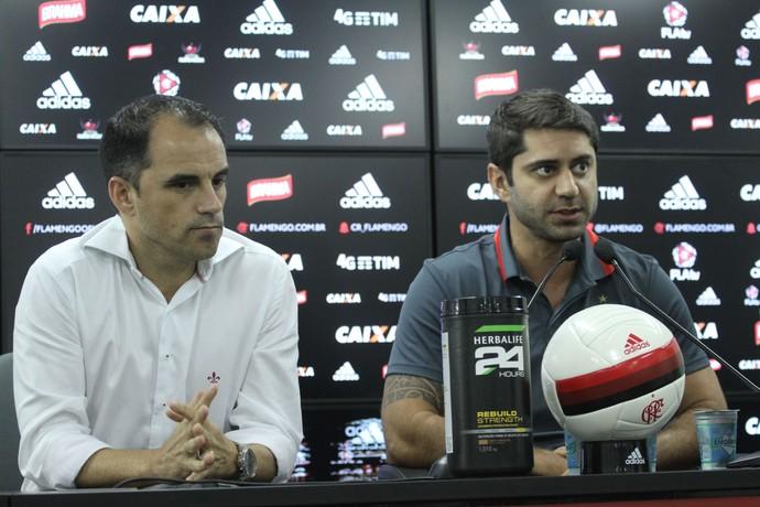 rodrigo caetano - marcio tannuer (Foto: Gilvan Souza - Divulgação, Flamengo)
