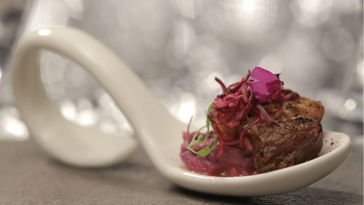 Porco com pur de batata-doce (Foto: GNT)