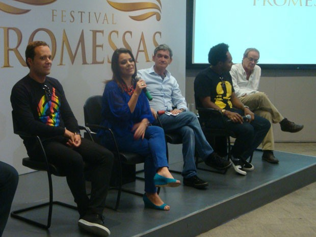 Coletiva do Festival Promessas, que ocorrerá no dia 8 de dezembro, em São Paulo (Foto: Rodrigo Ortega/G1)