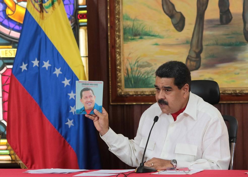 O presidente da Venezuela, Nicolás Maduro (Foto: Miraflores Palace/Reuters)