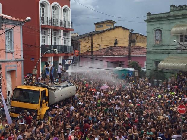 Bloco dos Moiados é tradicional no carnaval de Nazaré Paulista (Foto: Poliana Casemiro/G1)