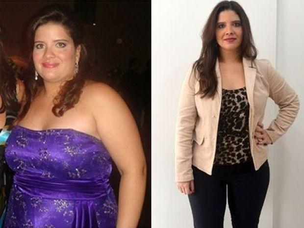 Thaís perdeu 26 quilos com hábitos saudáveis (Foto: Arquivo pessoal / Thaís Bortolozzo)