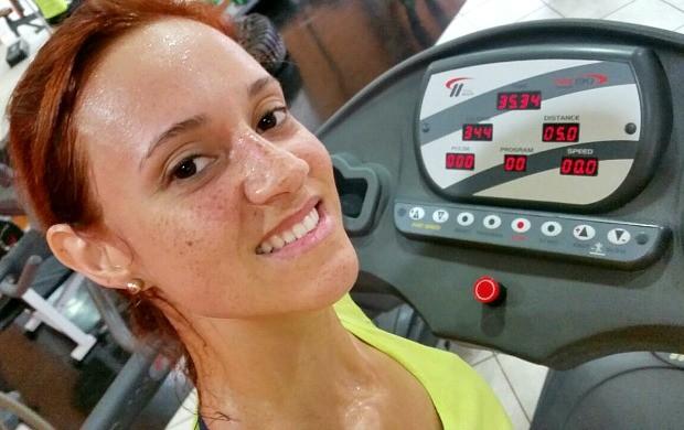Karina Quadros comemora evolução na corrida (Foto: Karina Quadros/Arquivo Pessoal)