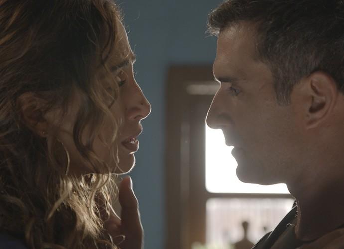 Regina e Carlos Alberto (Foto: TV Globo)