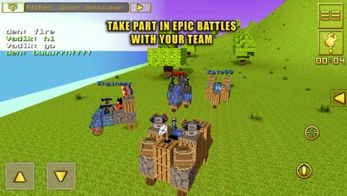 Visual e modo de construir lembra Minecraft, mas este é um jogo com carros e armas (Foto: Divulgação)