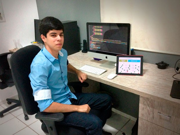Pedro Felipe Menezes conta que objetivo é 'automatizar correção' da prova do Enem (Foto: Divulgação/Carrato)