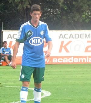 Bruno Dybal, treino Palmeiras (Foto: Diego Ribeiro / Globoesporte.com)