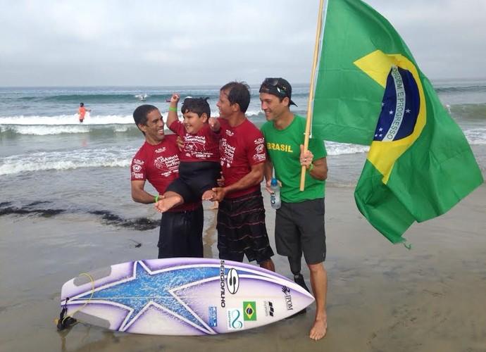 Davi Teixeira mundial de surfe adaptado (Foto: Divulgação)
