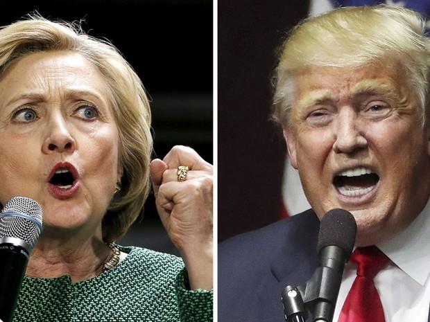 [SELO HOME]  Montagem com os candidatos Donald Trump e Hillary Clinton nas eleições dos EUA (Foto: Reuters)