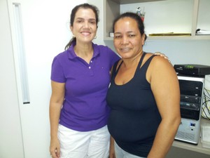 Mara diz que desenvolveu uma relação de amizade com a funcionária, em Vitória (Foto: Juliana Borges/ G1 ES)