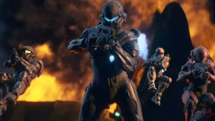 Na abertura de Halo 5: Guardians, Spartan Locke e o Fireteam Osiris roubam a cena (Foto: Reprodução/Movie Plot)