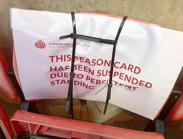 cadeira no estádio do Sunderland (Foto: Reprodução / Twitter)