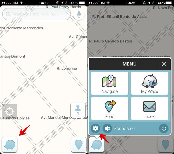 Acesse as configurações do Waze (Foto: Reprodução/Helito Bijora)