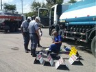Polícia Rodoviária aplica 150 multas em fiscalização de cargas perigosas