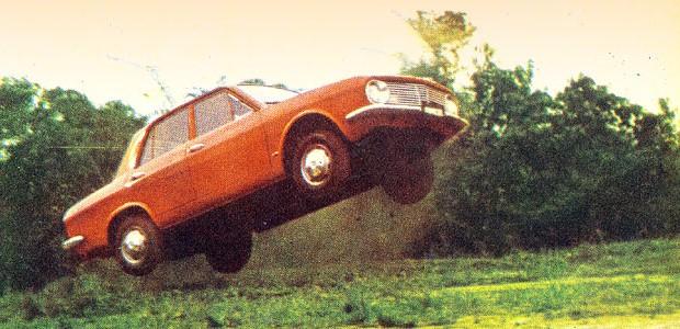 Ford Corcel durante teste da revista Autoesporte de 1968 (Foto: Autoesporte)
