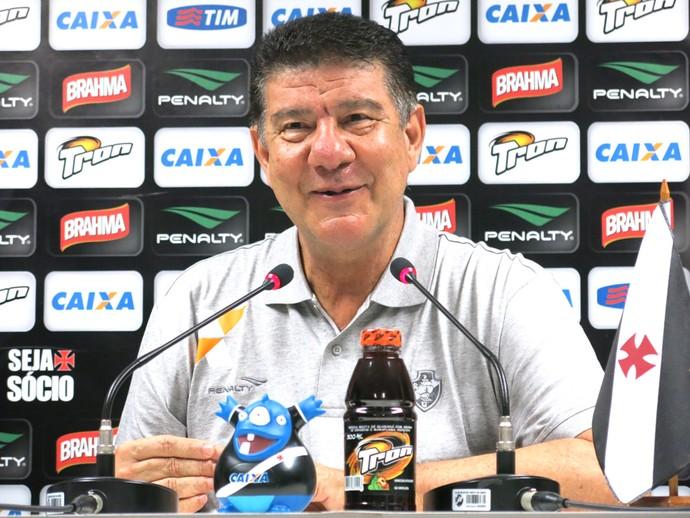 Joel Santana Coletiva Vasco (Foto: Edgard Maciel)