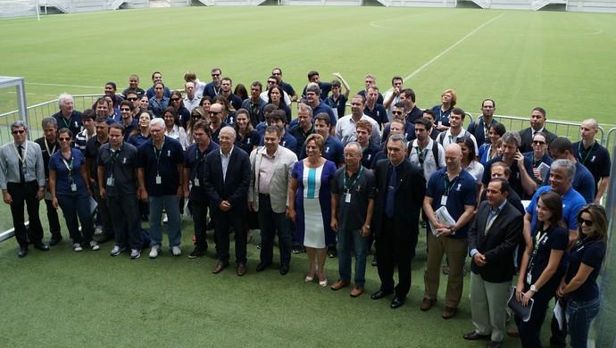 Visita da Fifa e do COL à Arena das Dunas (Foto: Augusto Gomes)
