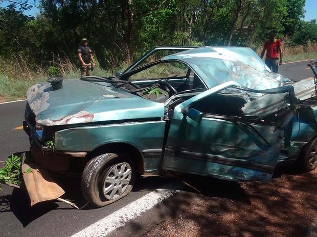 Pai tem ferimento grave e filho morre em acidente com três vítimas na Bahia (Foto: Blog do Sigi Vilares)