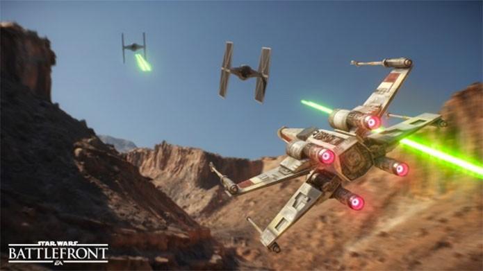 A X-Wing encara inimigos no novo Battlefront (Foto: Divulgação/EA)