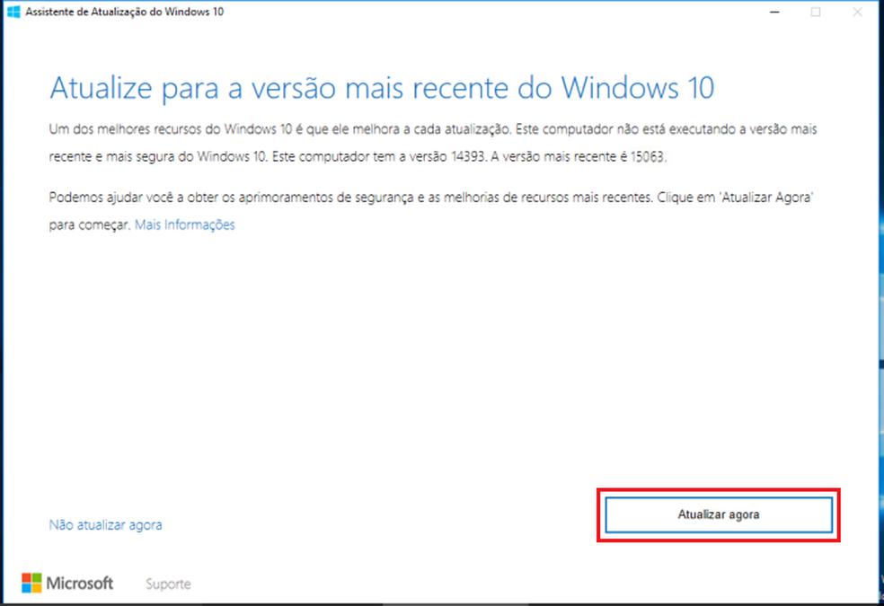 Iniciando a verificação do Assistente de Atualização do Windows 10 (Foto: Reprodução/Edivaldo Brito)