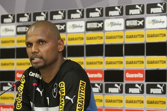 Jefferson Coletiva Botafogo (Foto: Vitor Silva / SSPress)