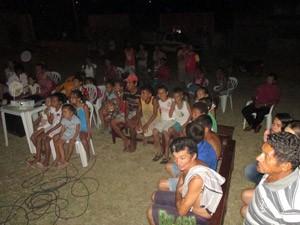 Cineclube Filhos do Sol, em Heliópolis, BA (Foto: União de Cineclubes da Bahia/Divulgação)