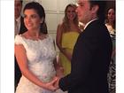 Lá vem a noiva: Vanessa Giácomo se casa com vestido branco curtinho