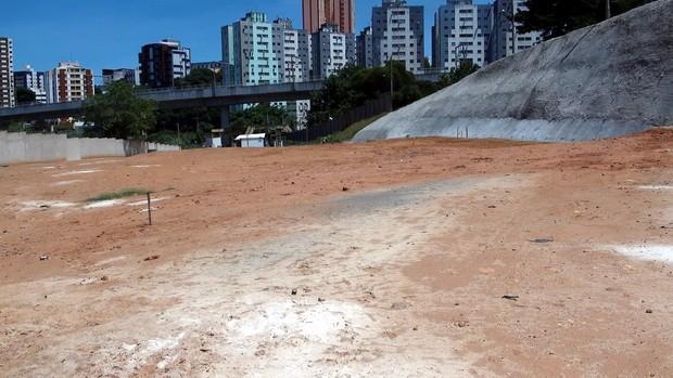 Local da piscina da Fundac, em Salvador (Foto: Ida Sandes/G1 Bahia)