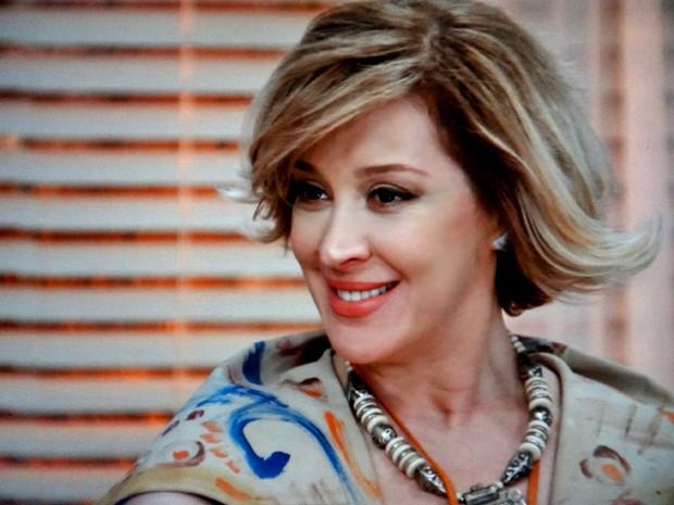 Samantha banca a boa moça com Laura (Foto: TV Globo)
