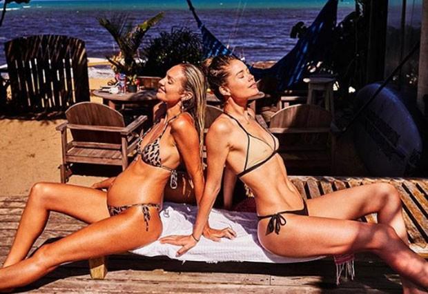 Candice Swanepoel e Doutzen Kroes (Foto: Reprodução)