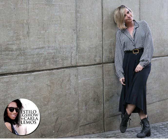 Natallia Rodrigues arrasa com seus looks clássicos de trabalho na telinha e bomba no instagram com seus looks superdescolados da vida real (Foto: Isabella Pinheiro/Gshow)