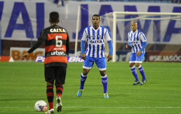 Cleber Santana Leandro Silva Avaí Ressacada Atlético-GO Série B 2013 (Foto: Jamira Furlani/Avaí FC)