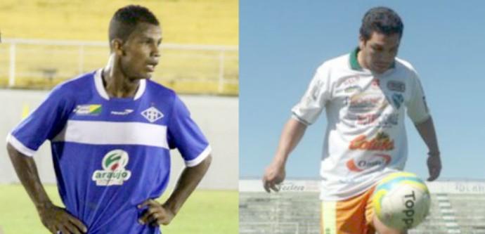 Gesse e Cabañas, contratados pelo Tanabi (Foto: Montagem / GloboEsporte.com)