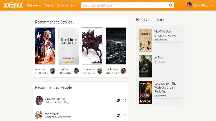 O Wattpad reúne histórias em vários estilos e sobre diferentes assuntos (Fotos: Daniel Ribeiro)