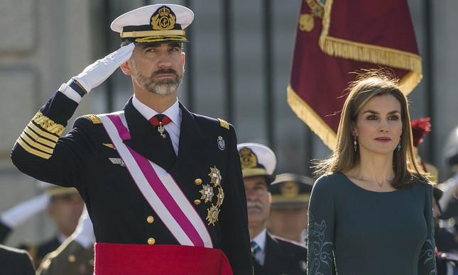 O rei Felipe, da Espanha, e a rainha consorte, Letizia