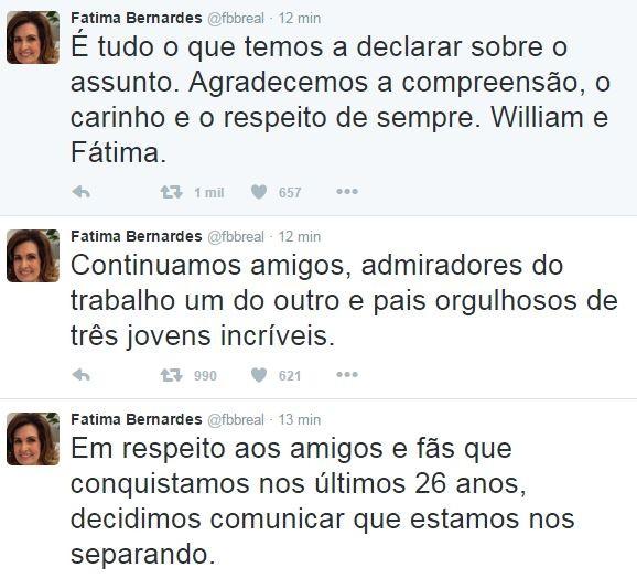 Fatima Bernardes (Foto: Twitter / Reprodução)