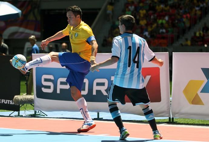 Futsal Falcão Brasil x Argentina (Foto: Adalberto Marques / Ag. Estado)