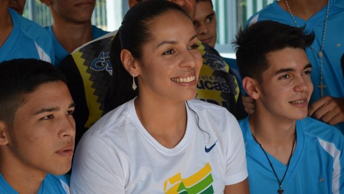 Paula Pequeno visita Rondônia (Foto: Pâmela Fernandes)