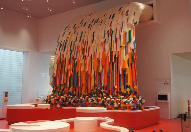 Zona vermelha da Lego House (Foto: Divulgação)