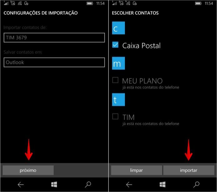 Importando contatos do chip SIM do celular  (Foto: Reprodução/Helito Bijora)