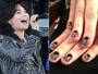 Unhas com spike: tenha nas mos o estilo rocker da cantora Demi Lovato