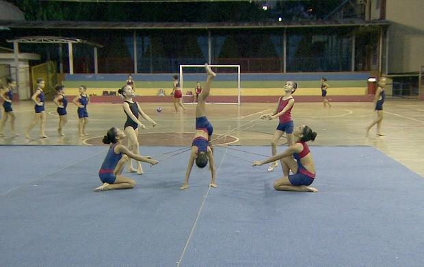 Ginasta de Porto Velho se preparam para campeonato brasileiro (Foto: Globo Esporte)