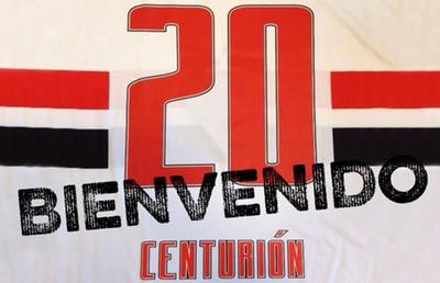 Centurion camisa 20 são paulo (Foto: Divulgação/Site oficial do São Paulo)