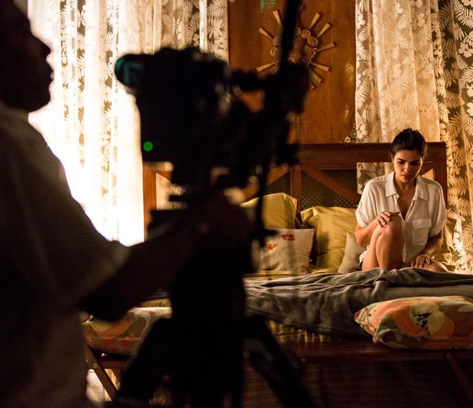 Vanessa Giácomo concentrada em cenas emocionantes de Tóia (Foto: Fabiano Battaglin/ Gshow)